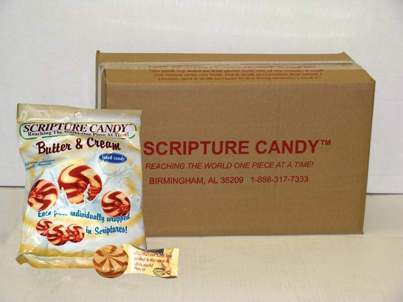 Butter & Cream Scripture Candy Case