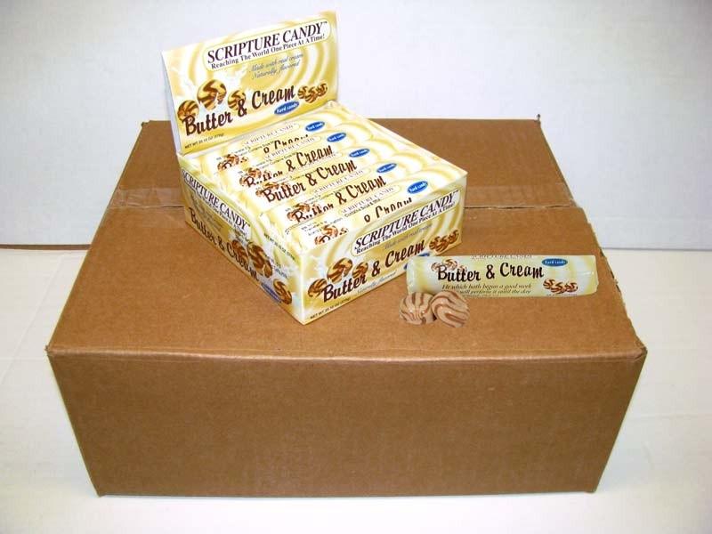 Butter & Cream Scripture Candy Rolls Case