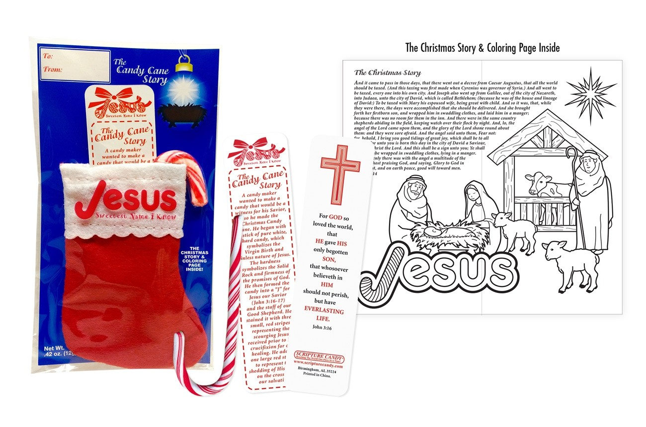 Candy Cane Story Stocking Scripture Candy
