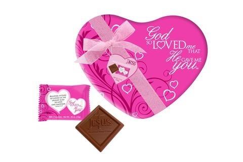 God So Loved the World Scripture Gift Tin  Milk Chocolates