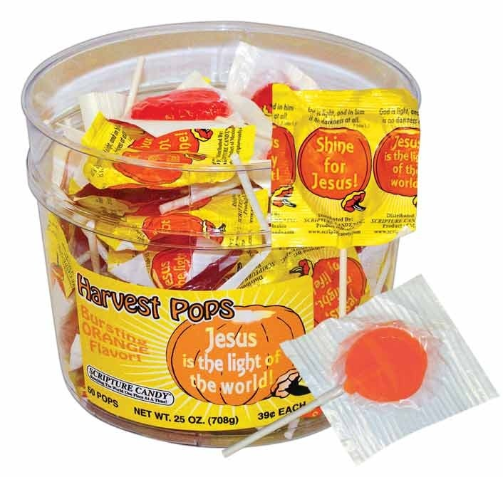 Harvest  Halloween Christian Lollipops Jar