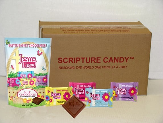 Jesus Lives Easter Chocolates Scripture Candy Case