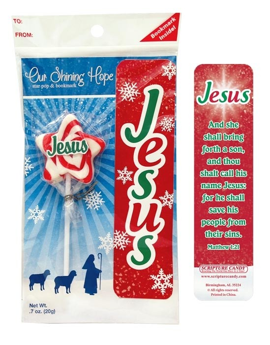Jesus Our Shining Hope Star Candy Lollipops