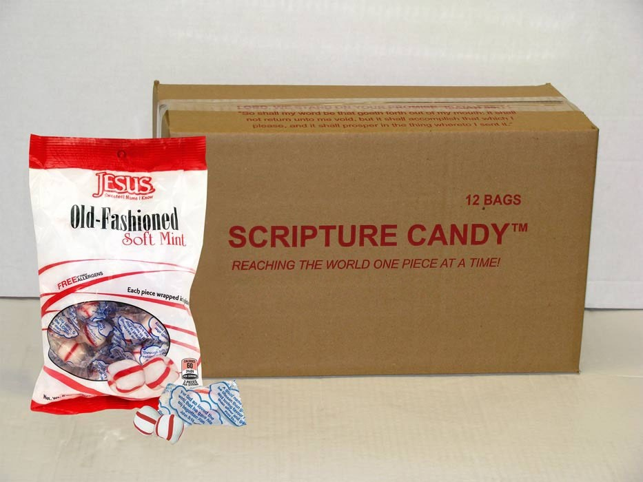 Old Fashioned Soft Peppermints Scripture Candy Case