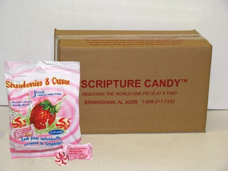 Strawberries & Cream Scripture Candy Case