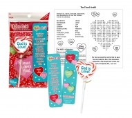 God is Love Heart Christian Lollipop Bookmark Set