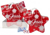 Jesus Christmas Star Scripture Candy Tin Case