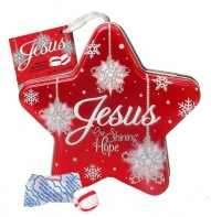 Jesus Christmas Star Scripture Candy Tin