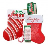 Jesus Scripture Candy Cane Stocking Tin