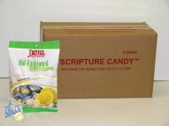 Old Fashioned Soft Lemon Scripture Candy Case